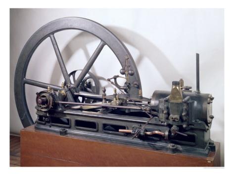 Первый в истории двигатель внутренего сгорания - двигатель Ленуара. 1860г